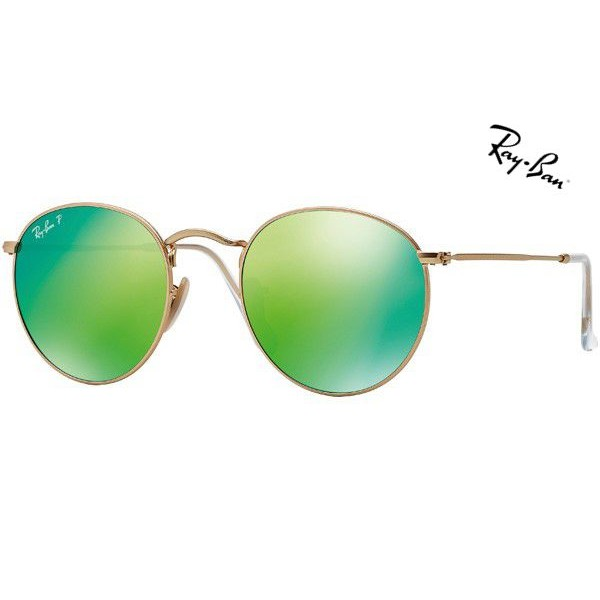 14d86a5ce92b84 Cheap Ray Ban Sunglasses RB3447 Round Metal 112 P9 Polarized 50mm